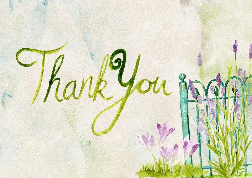 感謝の気持ちを伝える