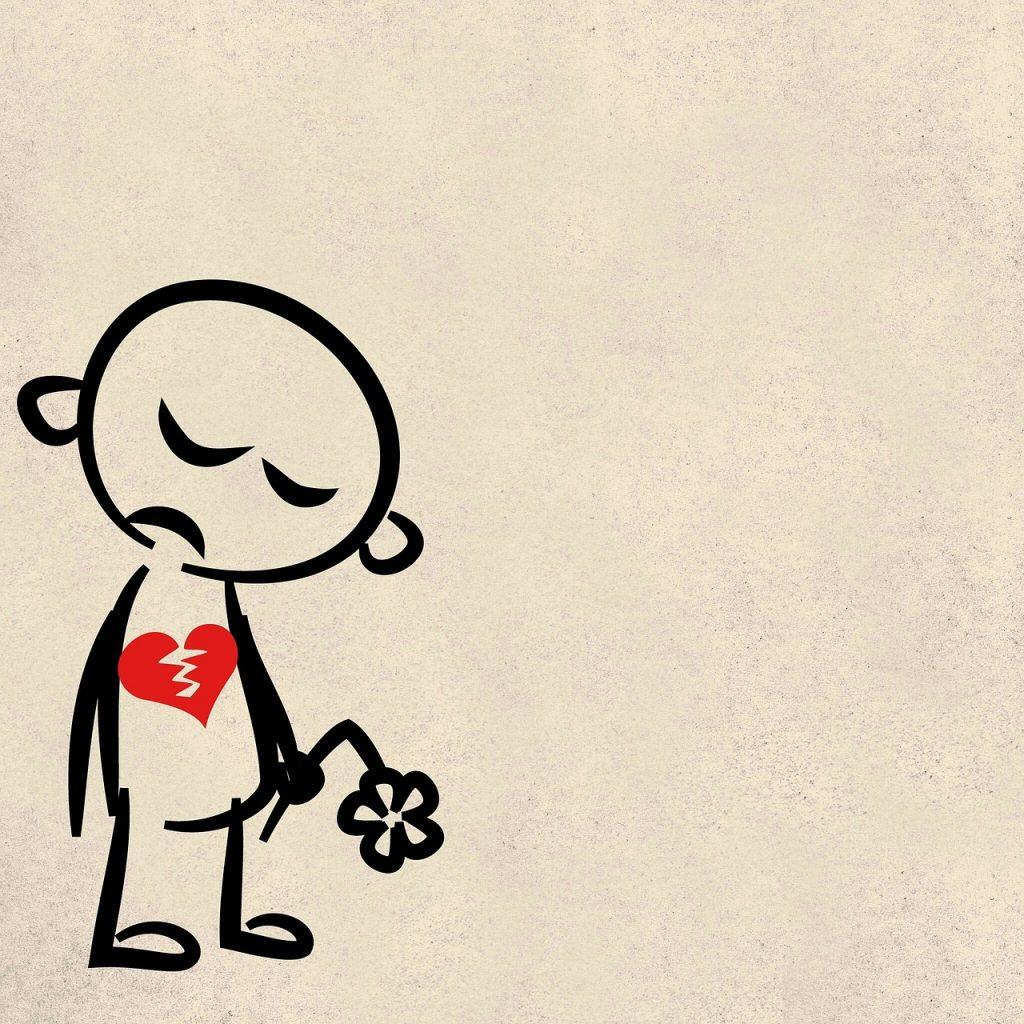 女性の約80%が失恋で傷ついた経験がある